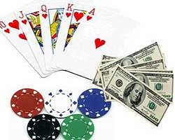 jetons + cartes + billets $ + cadenas